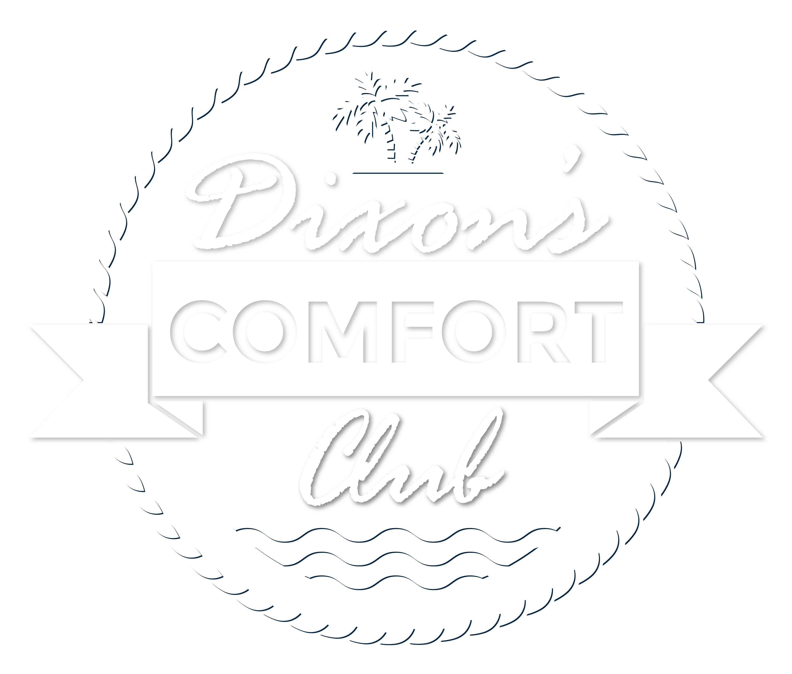 Dixon's Comfort Club badge white with drop shadow