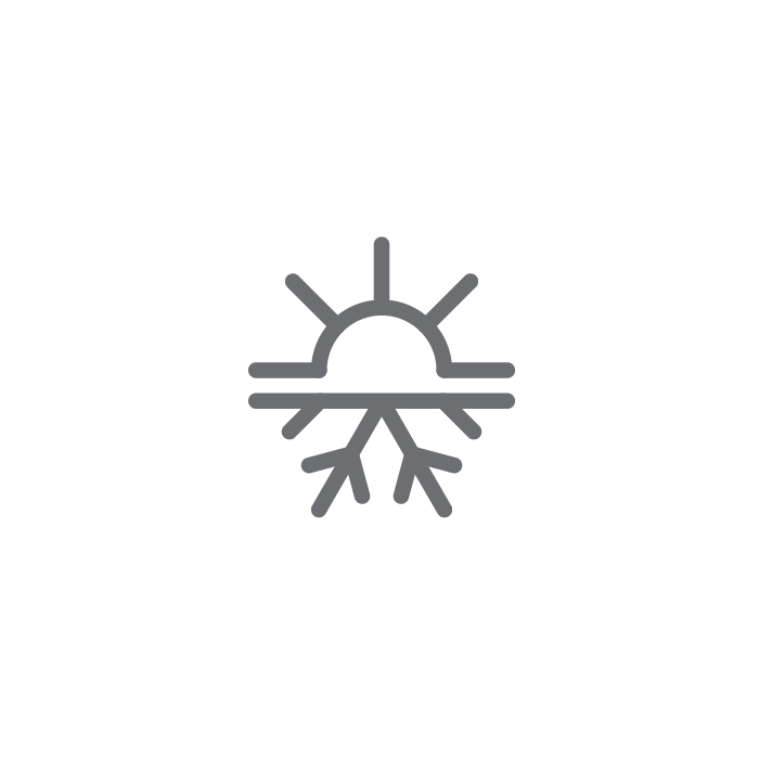 heat and air conditioning button icon