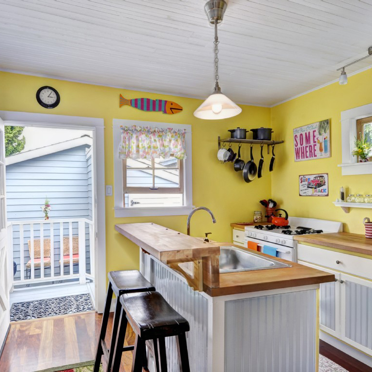 House Rules Yellow Kitchen: Residential & Commercial HVAC Services