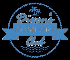 Dixon's Comfort Club Badge in blue